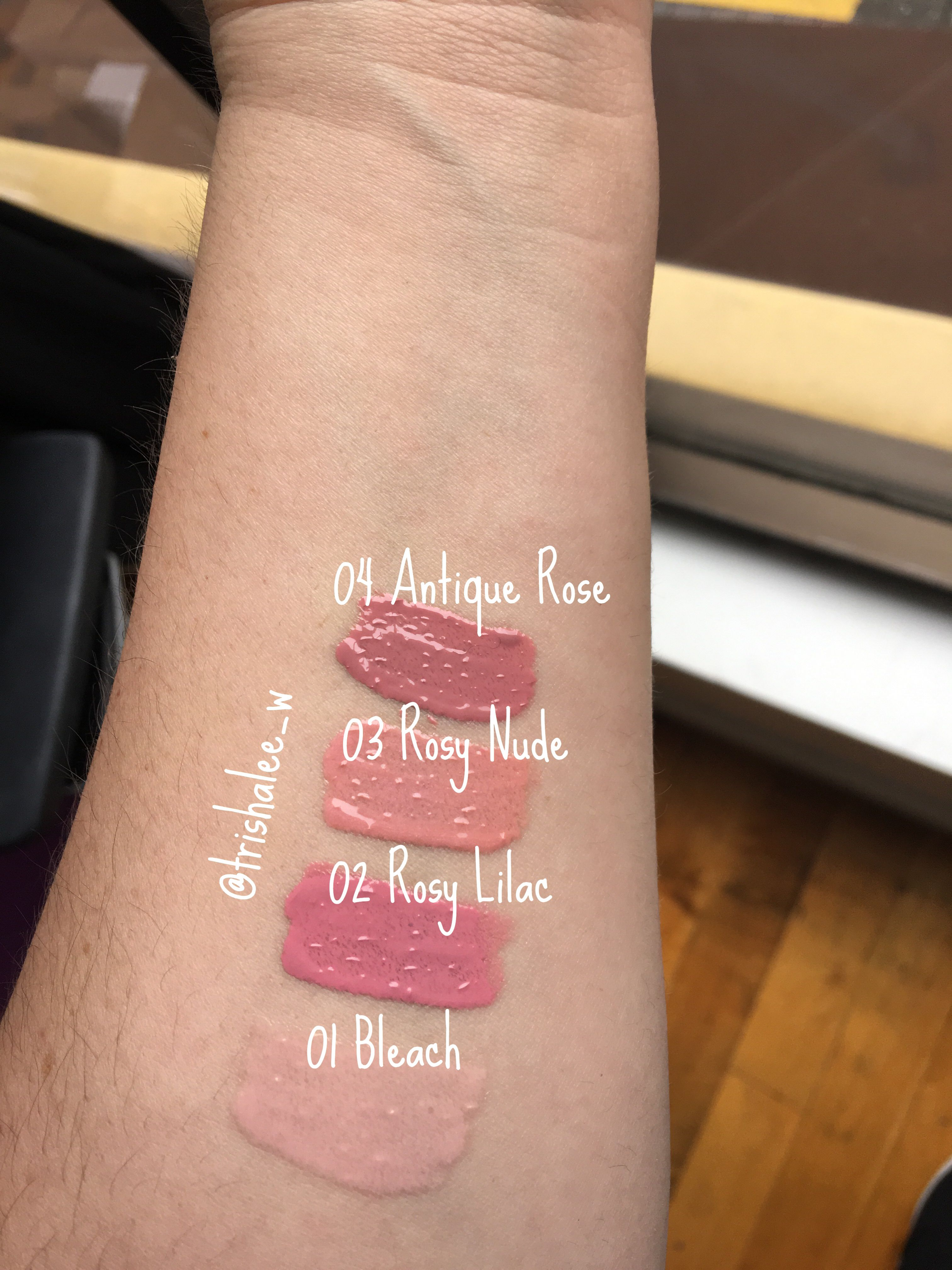 Elle 18 lipstick shades swatches