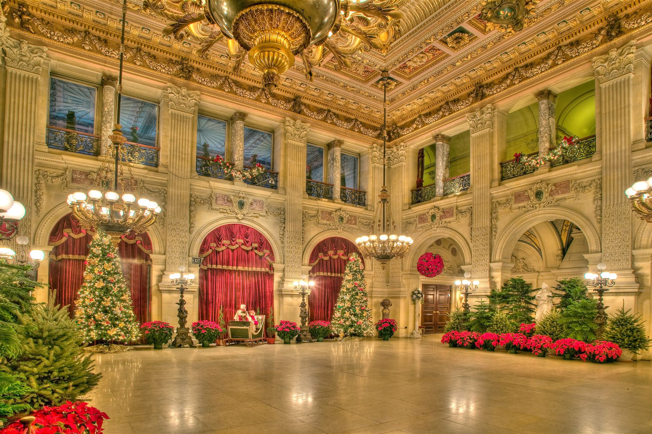 Breakers Mansion Christmas - Newport RI. | Mansions, The ...