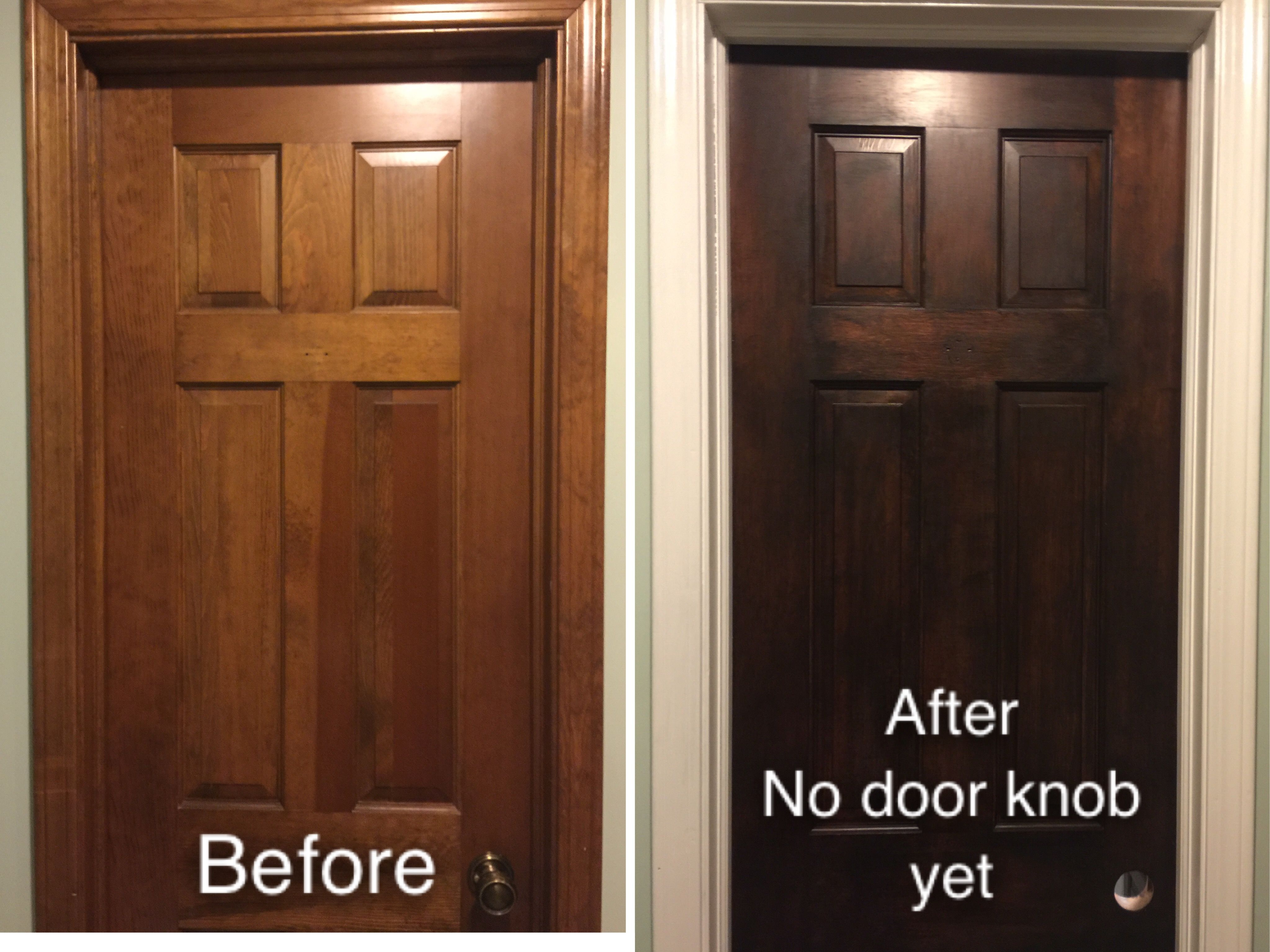 I Sanded The Door With A Mouse Sander Used Java Gel Stain To