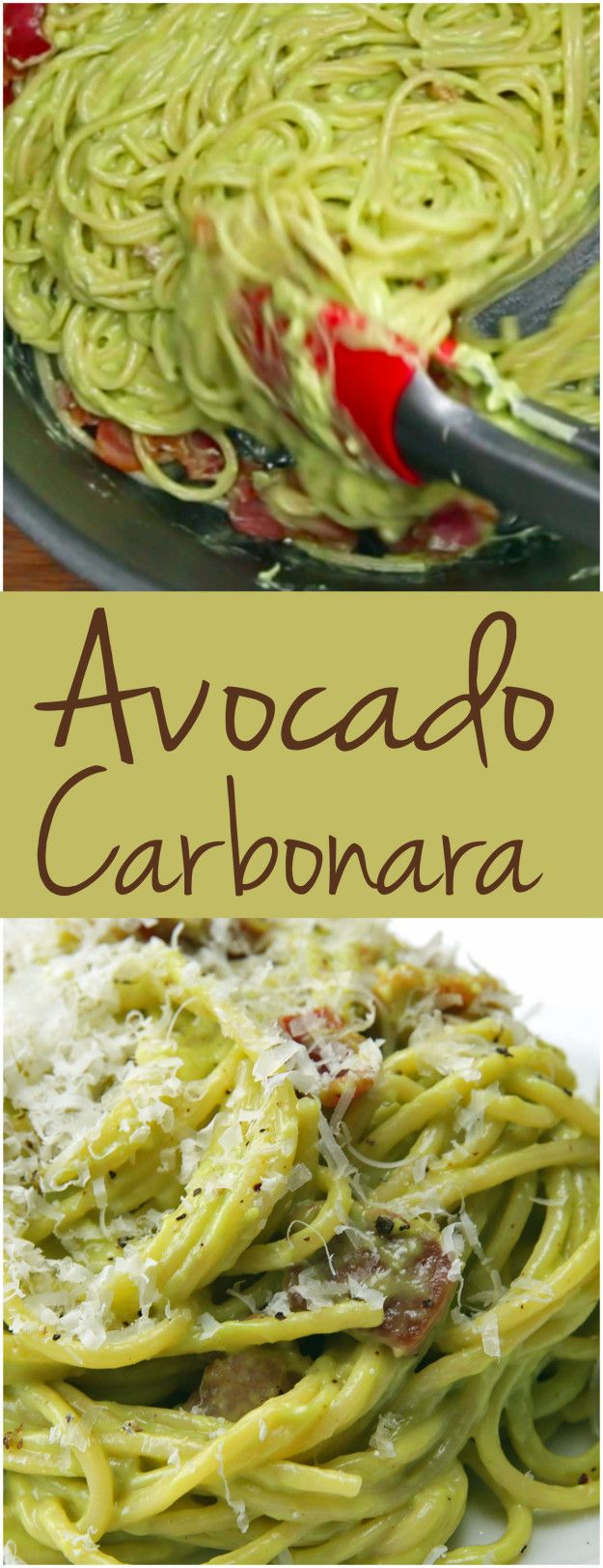 Avocado carbonara comida recetas y recetas para cocinar for Ideas para cocinar pasta