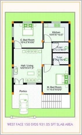 West facing small house plan google search bhk  plans also kailash geetakailashsanu on pinterest rh