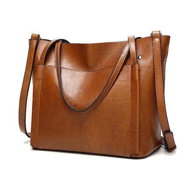Women Oil Leather Tote Handbags Vintage Shoulder Bags Capacity Crossbody Modus Of Dkny Ebay Uk Hamp M