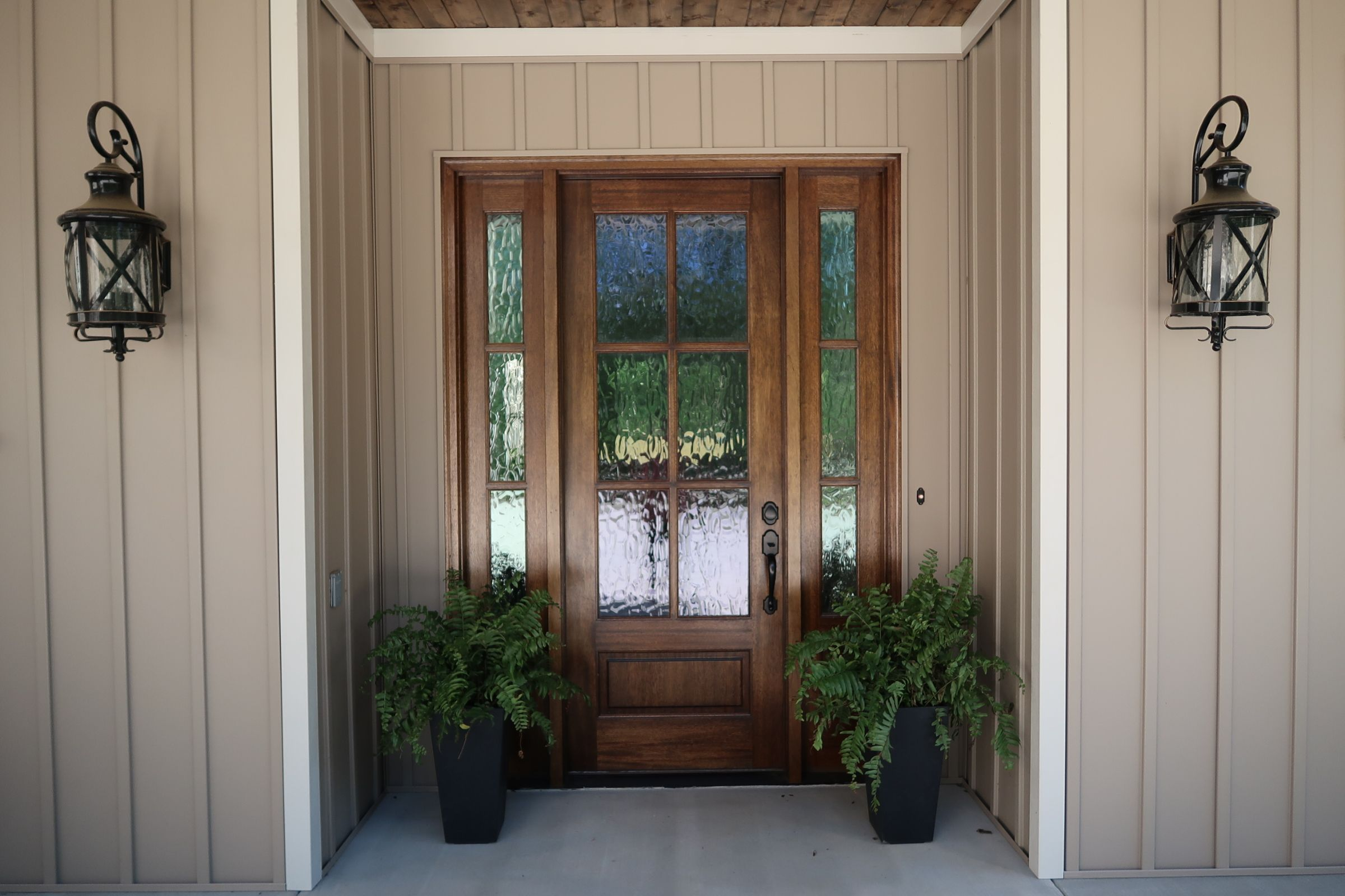 Mahogany Front Door with Privacy Glass | Our Forever Home ...