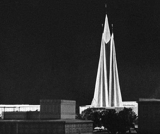 "These Churches Are the Unrecognized Architecture of Poland's Anti-Communist ""Solidarity"" Movement, Zbigniew Solawa Design for Miastoprojekt Kraków, from the Collection of A. Sitarski, 1957. Image Courtesy of Historical Museum of Kraków"
