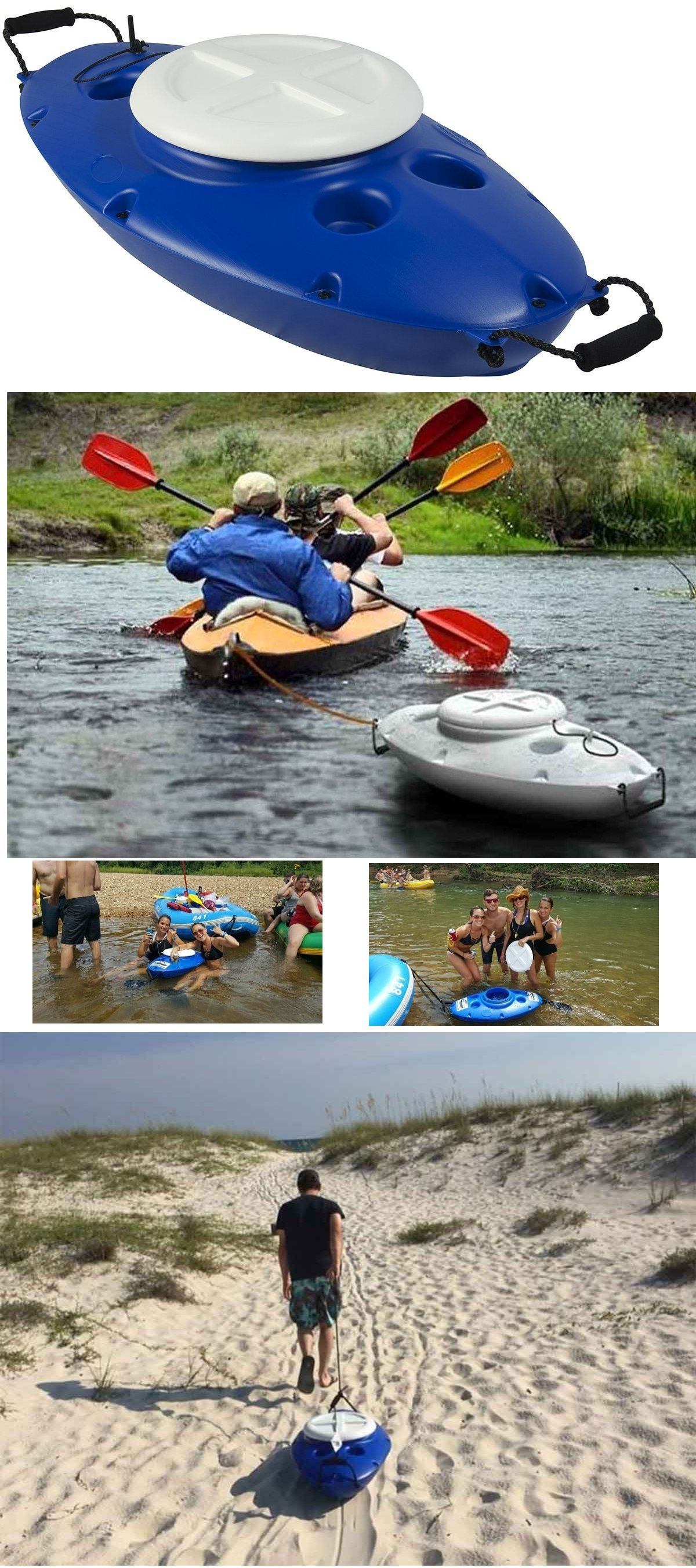 Photo of CreekKooler Floating Cooler, Tow on Rivers and Lakes with Canoe or Kayak, 30 Quart