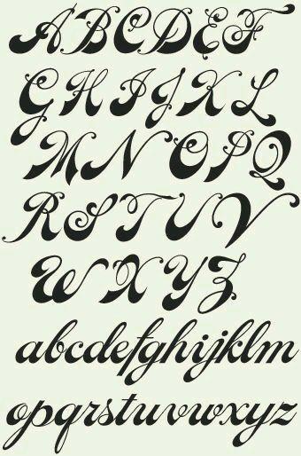 Caligrafia Cursiva Fonte Cursiva Para Tatuagem Inscricao