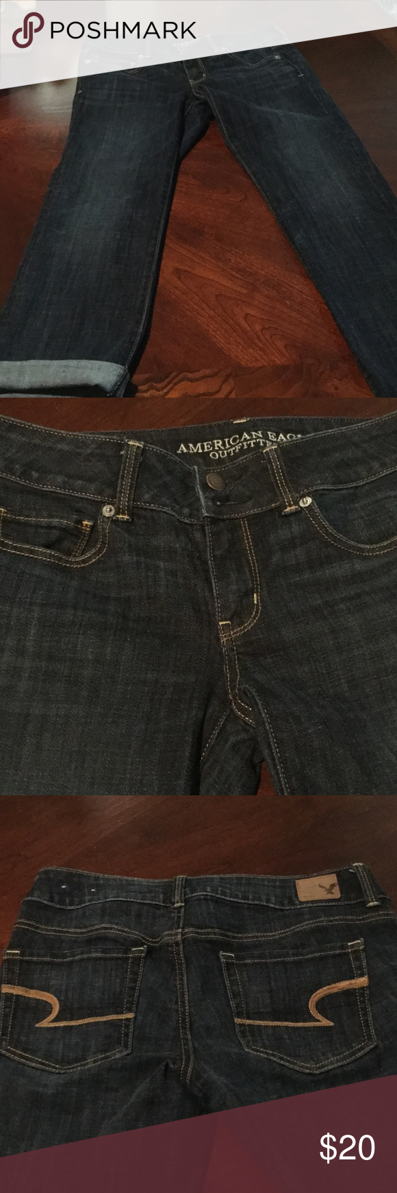 American Eagle Jeans These jeans are American Eagle Artist Skinny Crop .They are like new and they are a size 4 and they were purchase at the AE store. American Eagle Outfitters Jeans Ankle & Cropped