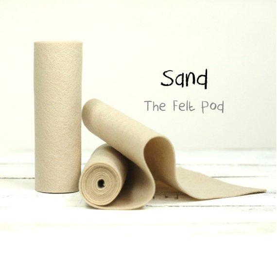 100 Percent Wool Felt Roll Wool Felt Color Sand 5 X 36 Wool Felt 100 Wool Felt Wool Felt Felt Sheets Felt