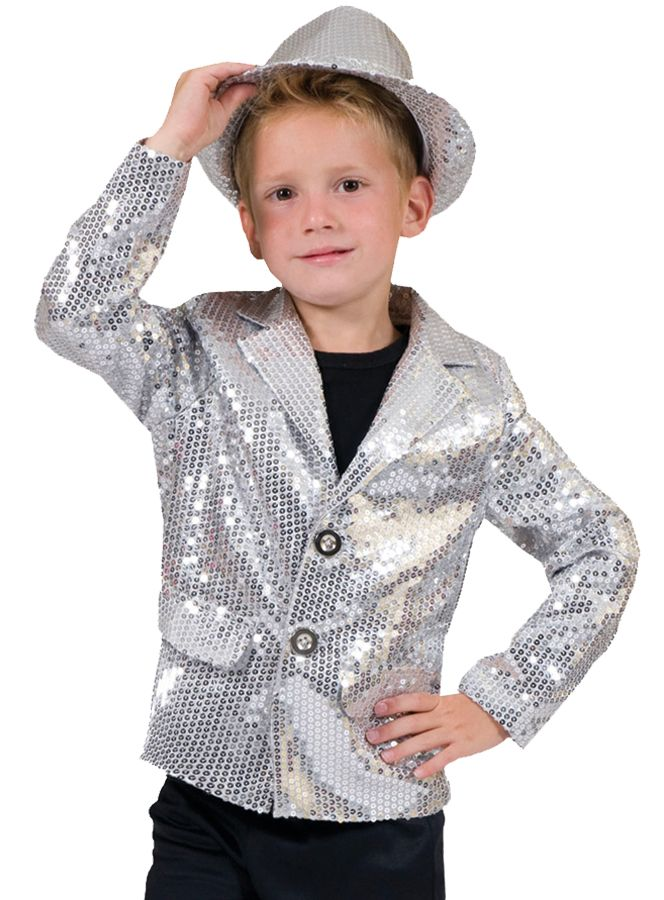 fae4cbe18 DISCO JACKET SILVER CHILD | Kids Fancy Dress | Disco costume, Boy ...
