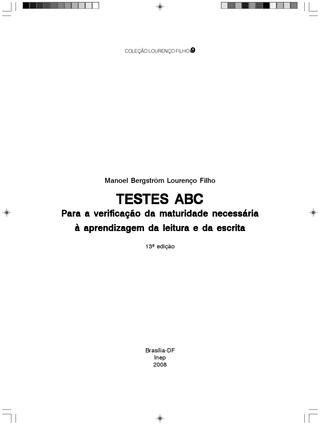 LIVRO - Teste ABC - Lourenço Filho