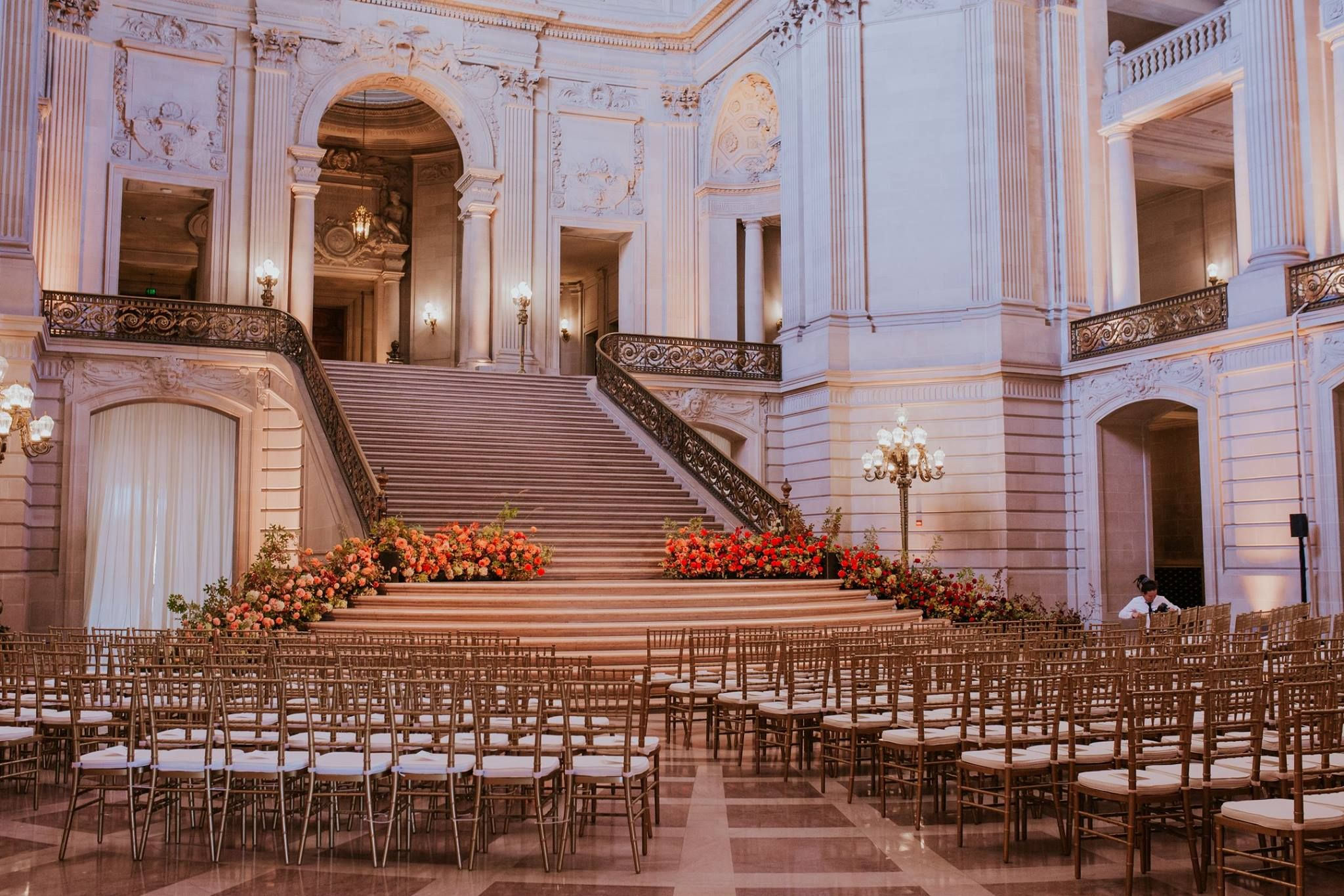 Wedding Goals To Get Married In Front Of The Grand Staircase Of San Francisco City Hall Under The S San Francisco City Hall Gold Chiavari Chairs Party Rentals