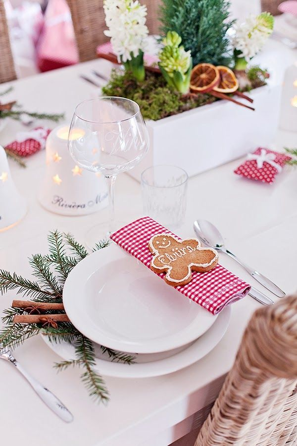 Christmas Table Setting -- Heart Handmade UK: Greengate Filled Christmas