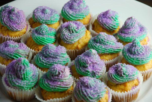 "Sweet Potato #cupcakes - a healthier version of ""King Cake"" for Mardi Gras"