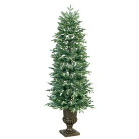 GE 5-ft Indoor Fir Pre-lit Decorative Artificial Tree with ...