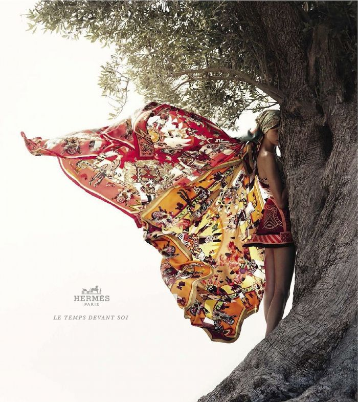 Scarf wings  summer wind // hermès ss12 campaign by nathaniel goldberg, model bette franke