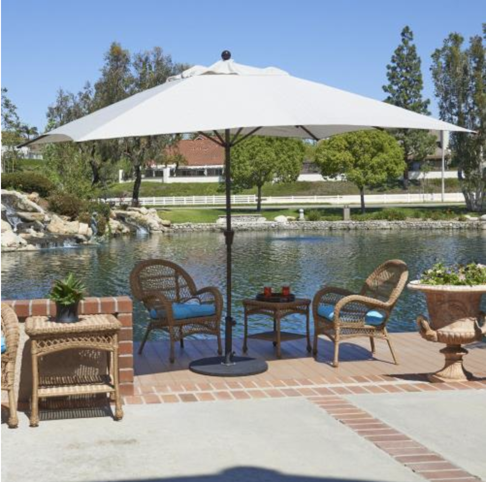 For Your Large Oval And Rectangular Tables You Need A Market Umbrella That Offers The Right Coverage In 2020 Best Patio Umbrella California Umbrella Market Umbrella