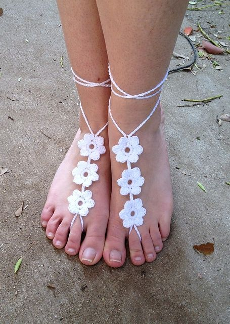 Barefoot+Sandals+Crochet+Pattern+Free | barefoot sandal patterns ...