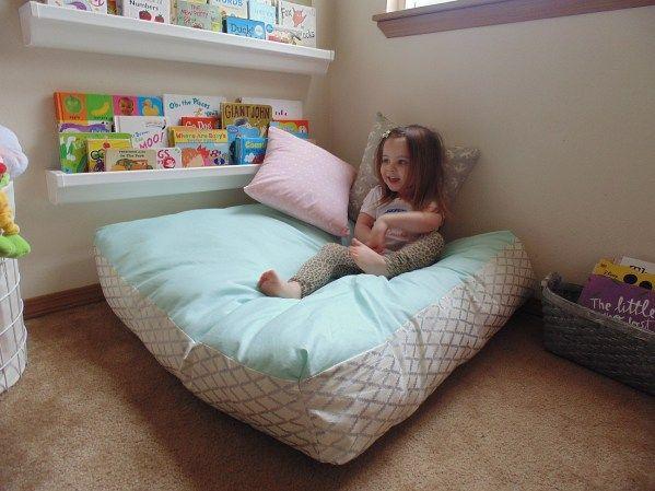 7 Comfy DIY Giant Floor Pillows | Floor pillows, Giant floor pillows ...