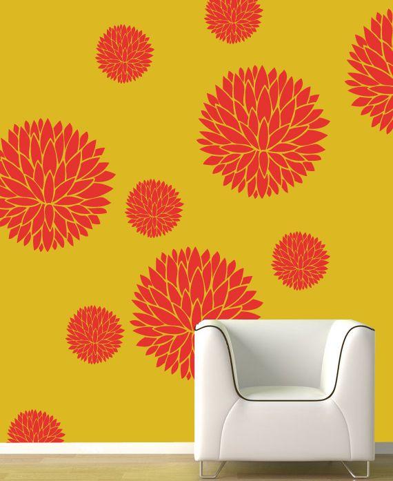 Decorze   Powered By ShopPad™   Flower Painting Stencils   Pinterest ...