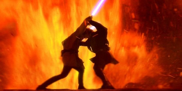 Pin Anakin Vs Obiwan Wallpaper For Imac Widescreen Hd Wallpapers On Star Wars Pictures Star Wars Background Star Wars Poster