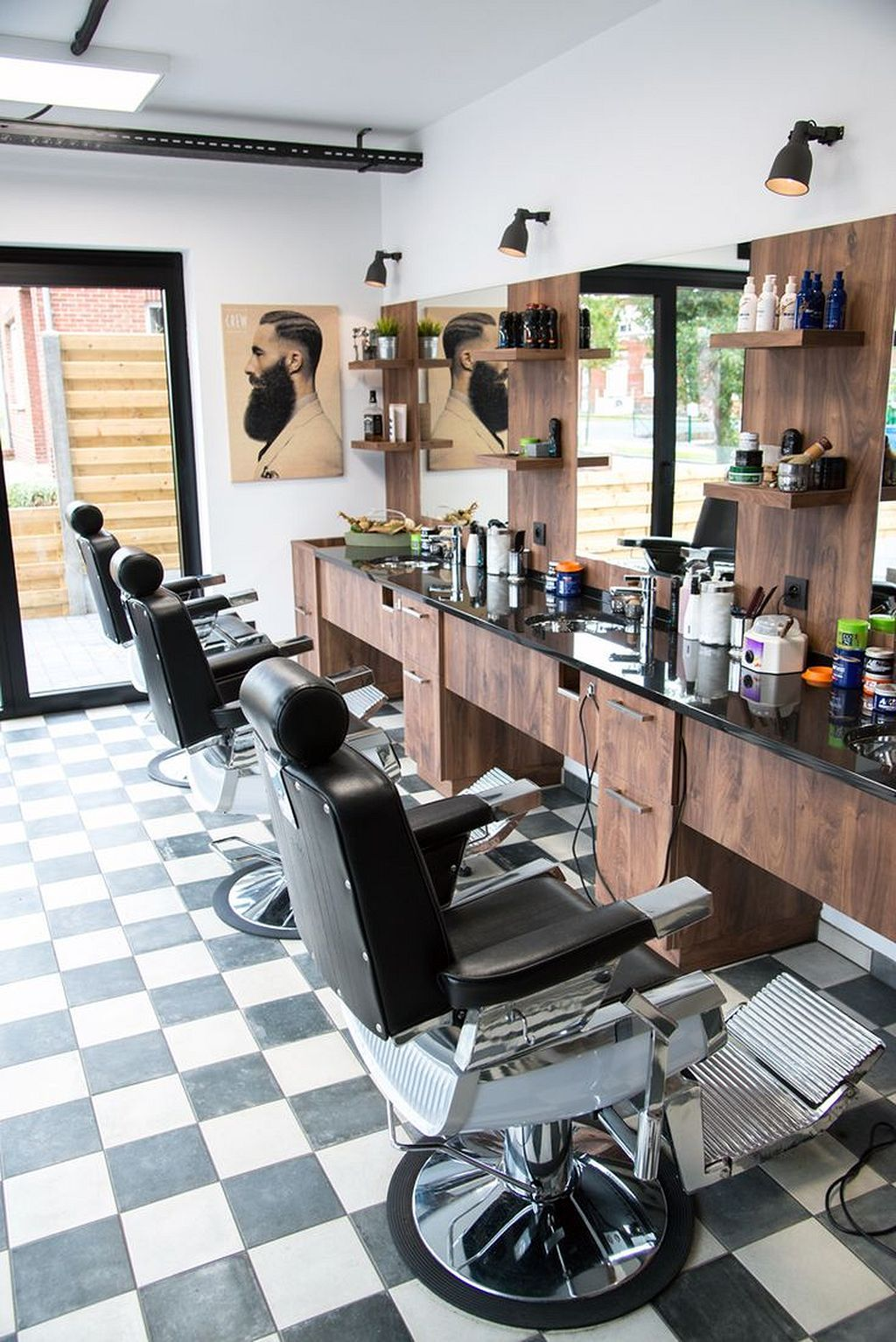 50 Gorgeous Beauty Salon Interior Design Ideas | Barberia, Barbería ...