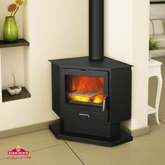 Impressive Corner Wood Burning Fireplace Corner wood stove