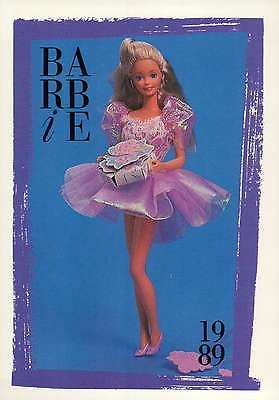 "Barbie Collectible Fashion Trading Card  /"" Gift Giving Barbie /""  Dress 1989"
