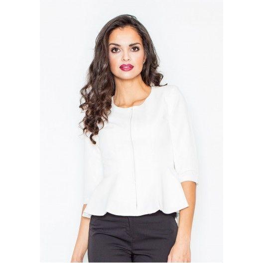efe042be7 Biele dámske sako na zips - fashionday.eu | Dámske saká | Pinterest ...