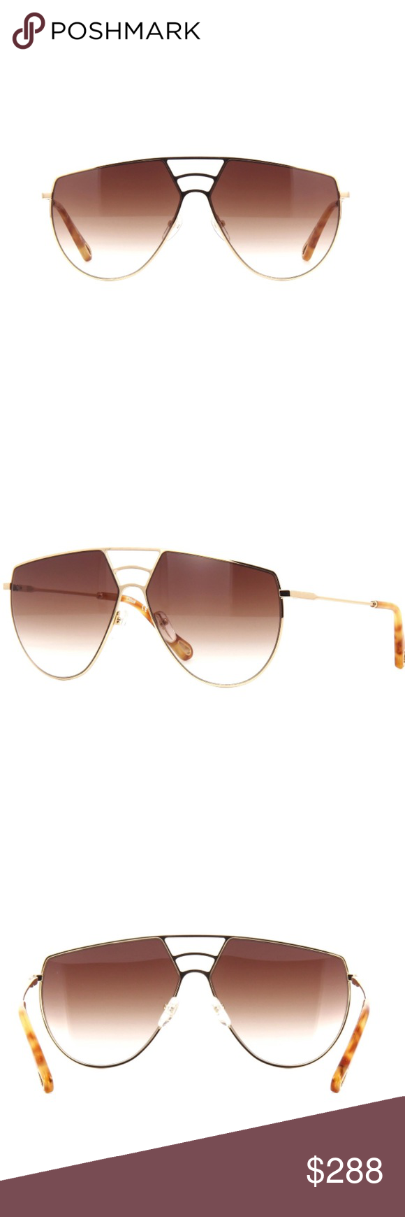cdb63a506f1d Authentic Chloe Sunglasses NWT! Gorgeous Chloe sunglasses. Gold frame with  brown gradient. Shipping