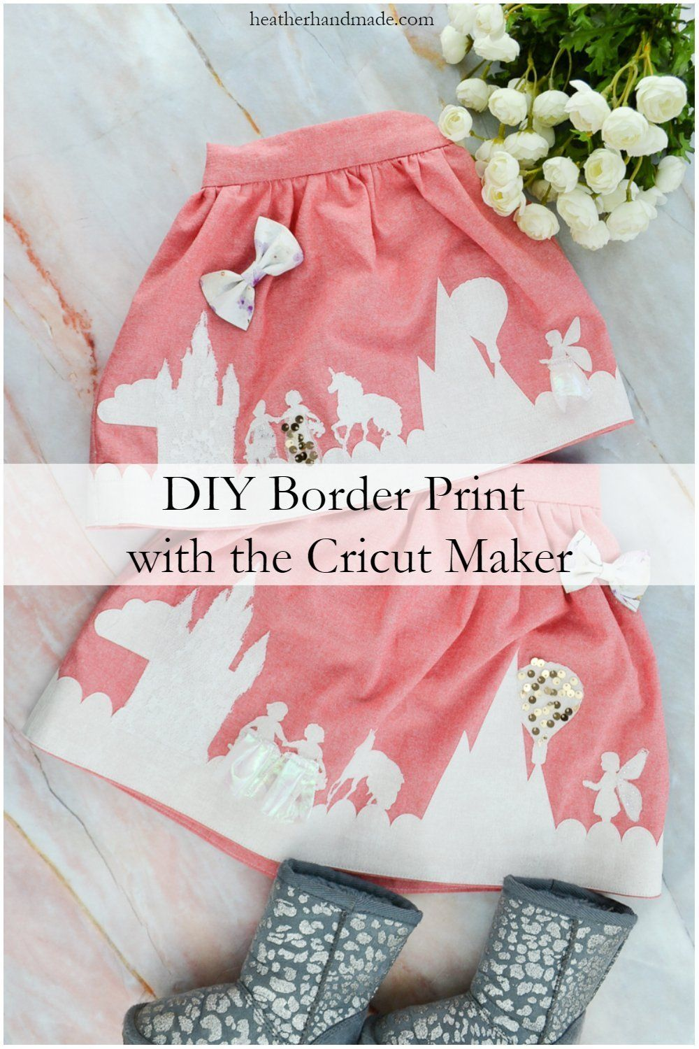 DIY Border Print with the Cricut Maker • Heather Handmade