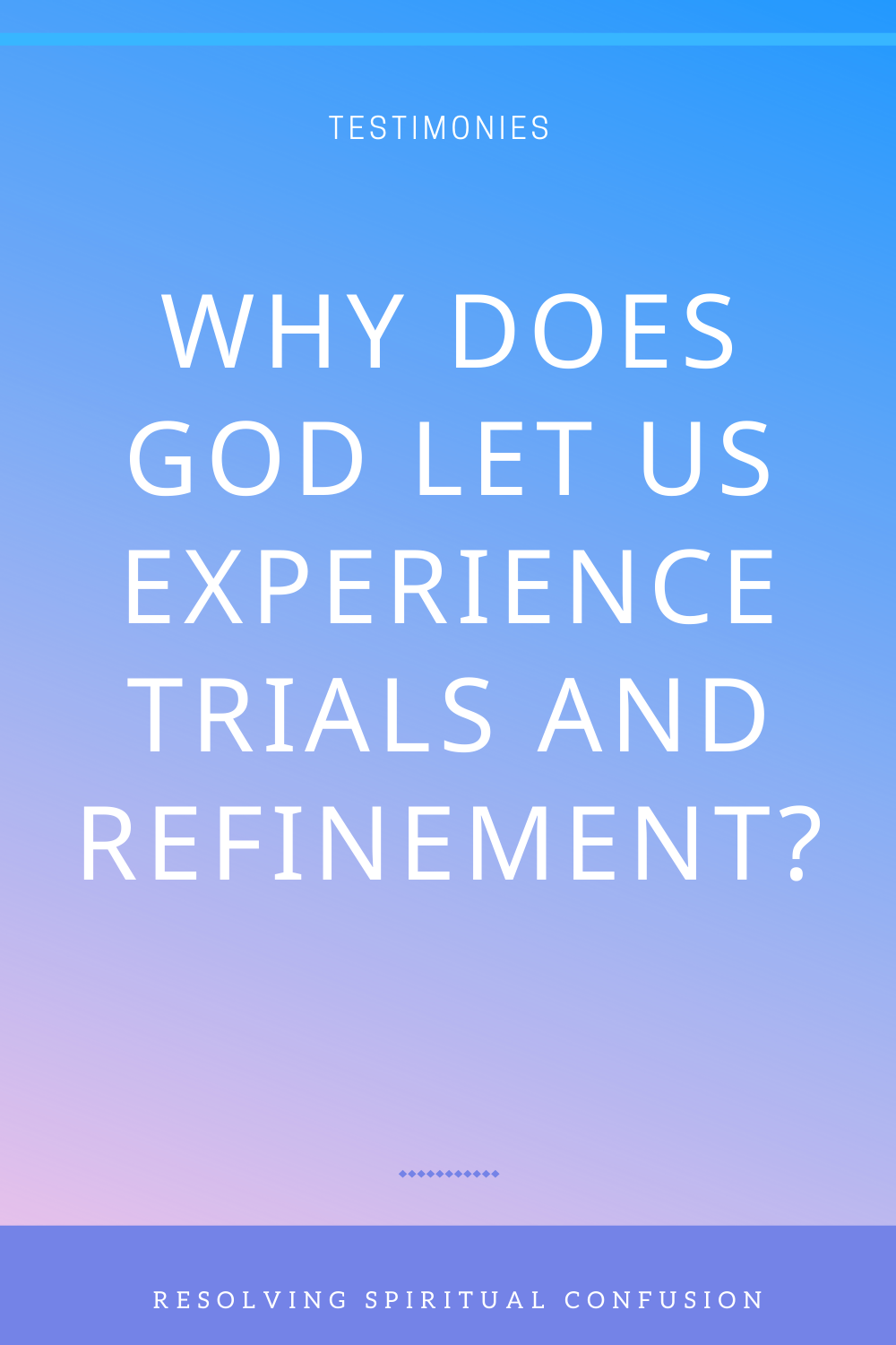 Why Does God Let Us Experience Trials And Refinement The Church Of Almighty God Knowing God Read Bible Christian Journaling