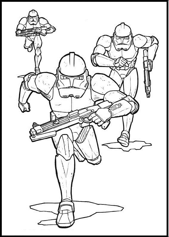 Clone Group Star Wars coloring picture for kids | Star Wars | Pinterest