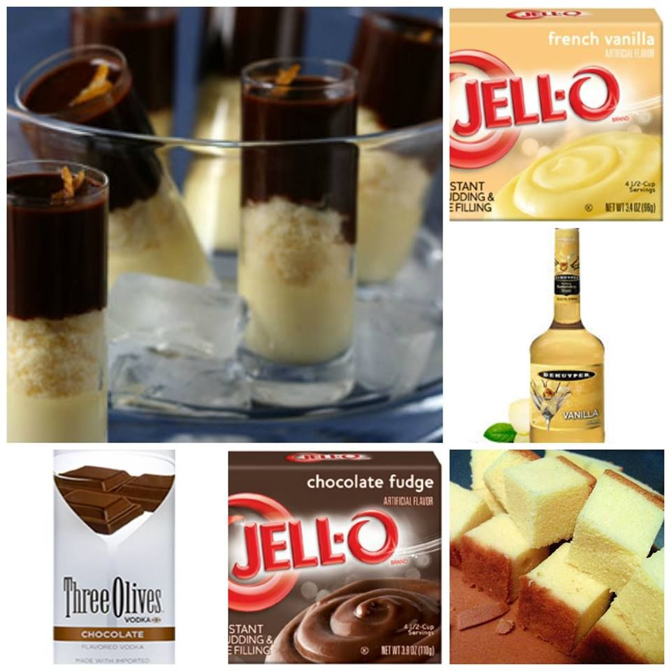 BOSTON CREAM PIE PUDDING SHOTS | jello/pudding shots | Pinterest ...