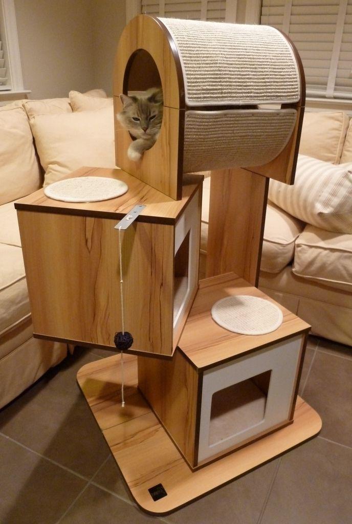 Gorgeous hagen vesper v tower modern cat tree furniture review thoughts cool stuff cat - Katzenmobel selber bauen ...