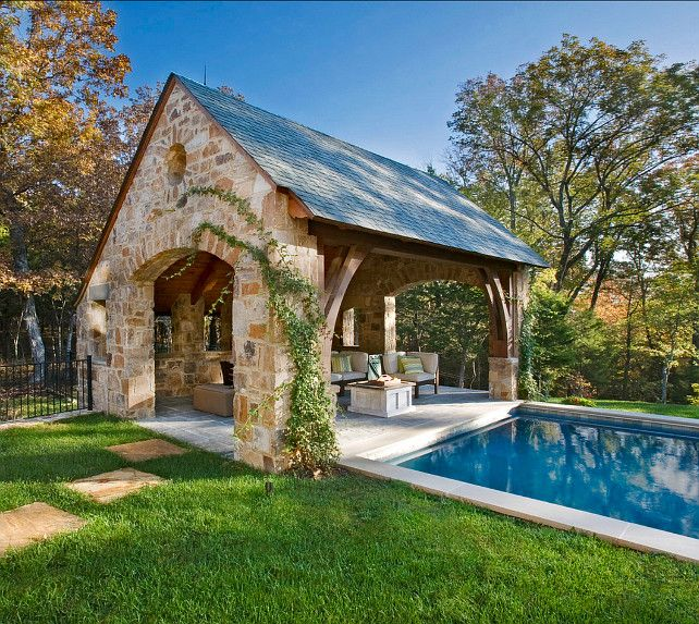 Amazing Backyard Pool Cabanas #3 - And Cabana Pool House Ideas ...