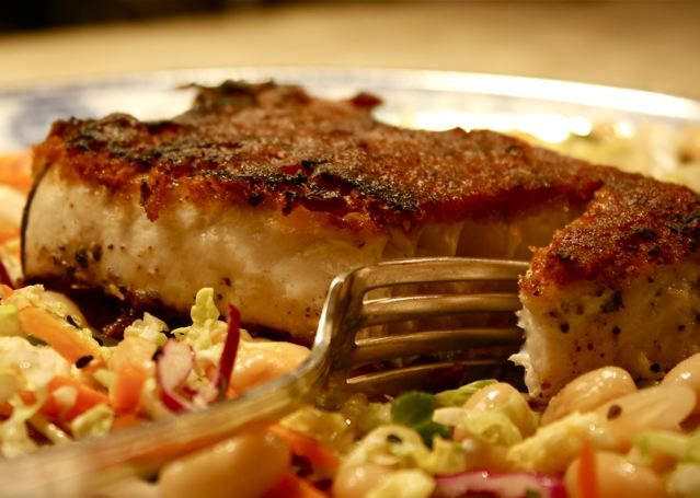 Asian-Glazed Swordfish with baby Bok Choy  http://www.fitness.com/recipes/777/asian_glazed_swordfish_with_baby_bok_choy.php#