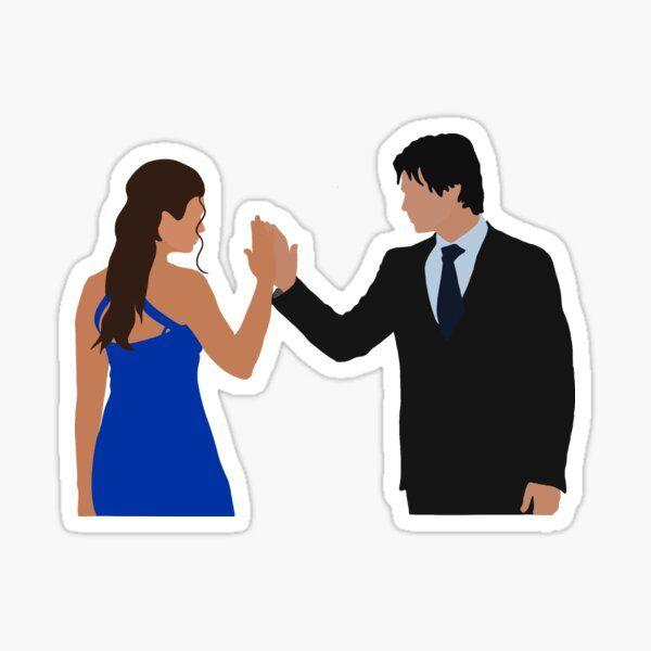 Damon Salvatore and Elena Gilbert Sticker