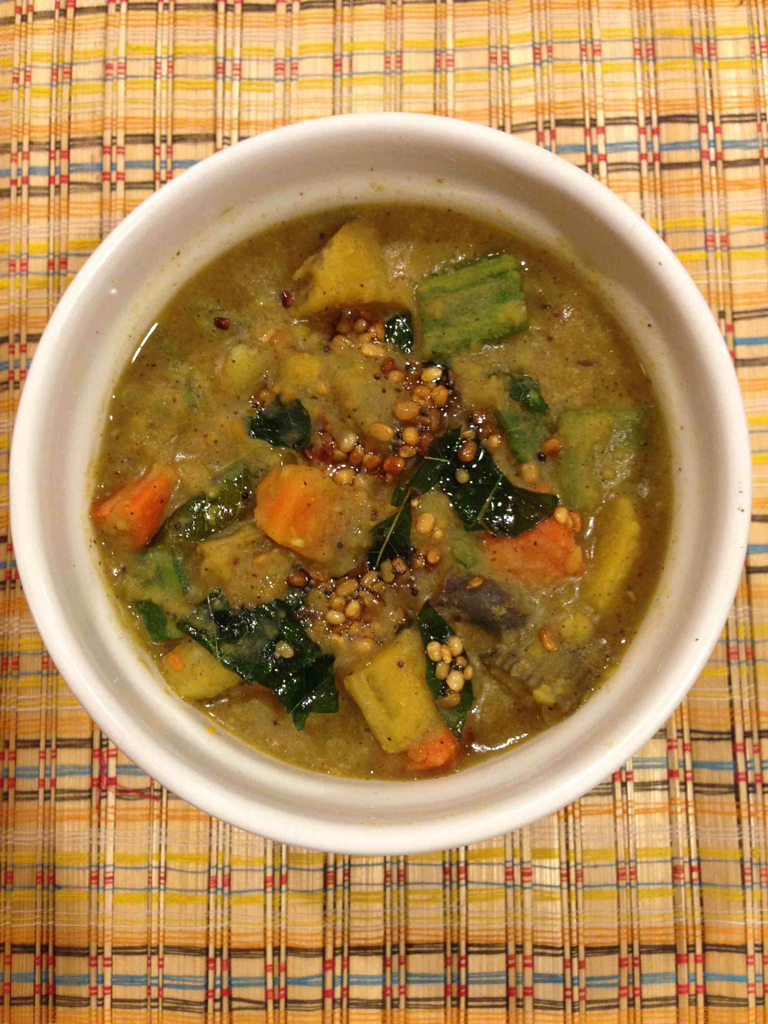 Poritha Kuzhambu is a very traditional Tamil dish. This