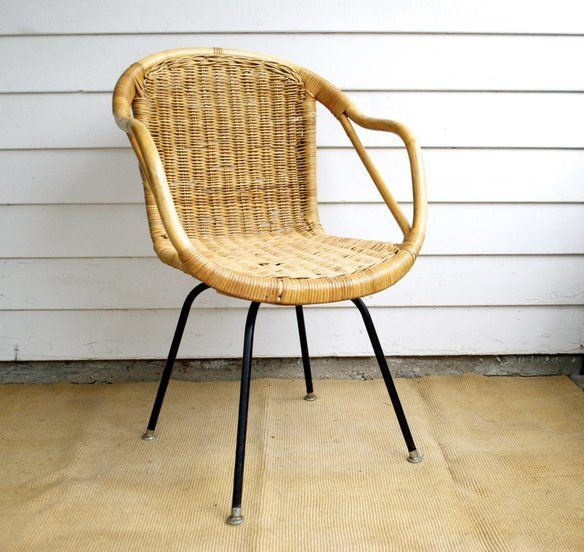 Love This Mid Century Modern Wicker Chair. Had It When I Was A Kid