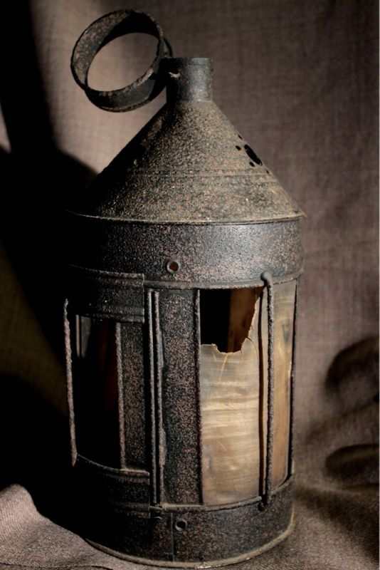 Horn Lamp 18th Century Nautical Lamps Primitive Lighting Lantern Candle Holders