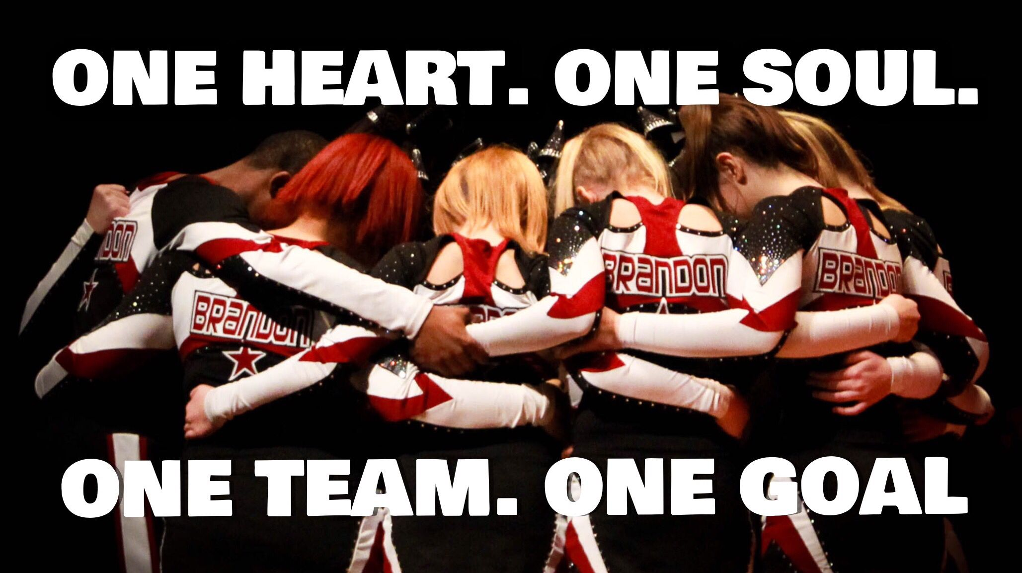Brandon All Stars Cheer Quote. One Heart. One Soul. One ...