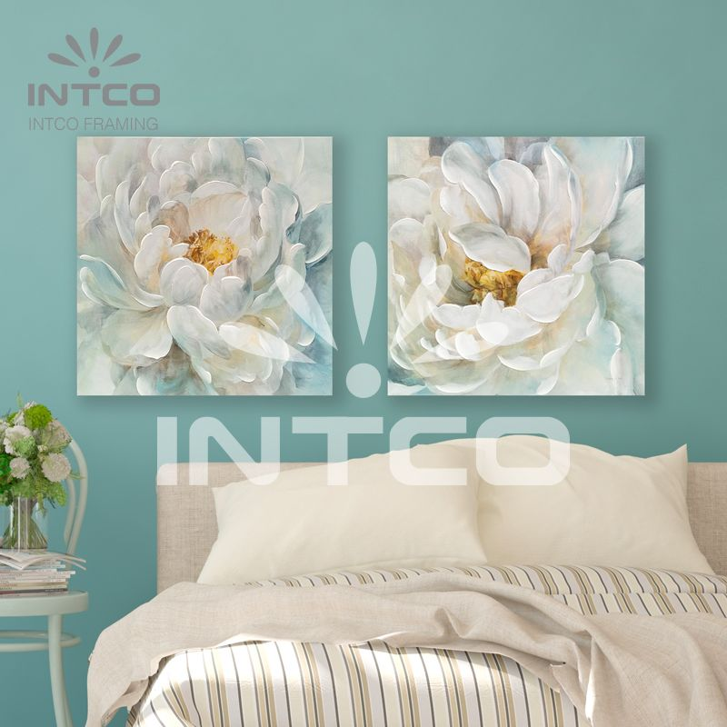 Single Hand Painted Peony Hand Embellished Canvas 23 23 Inch Frame Wall Decor Frames On Wall Framed Canvas Prints