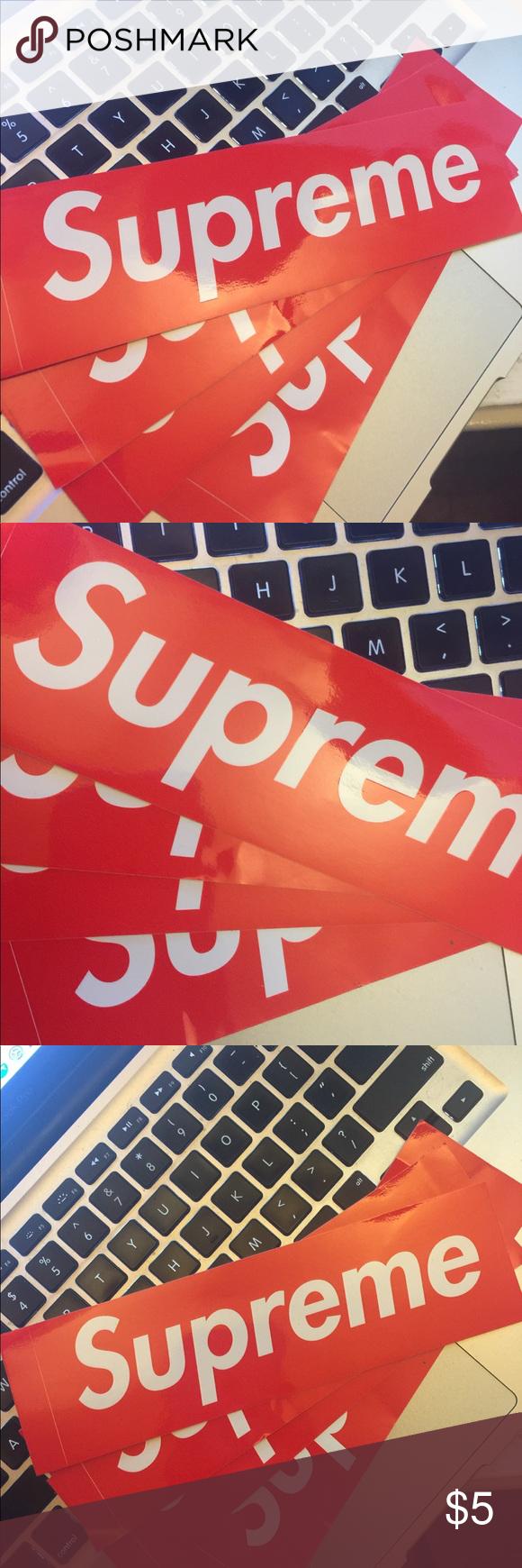 Supreme Stickers My Posh Picks Pinterest Sticker Original From Other