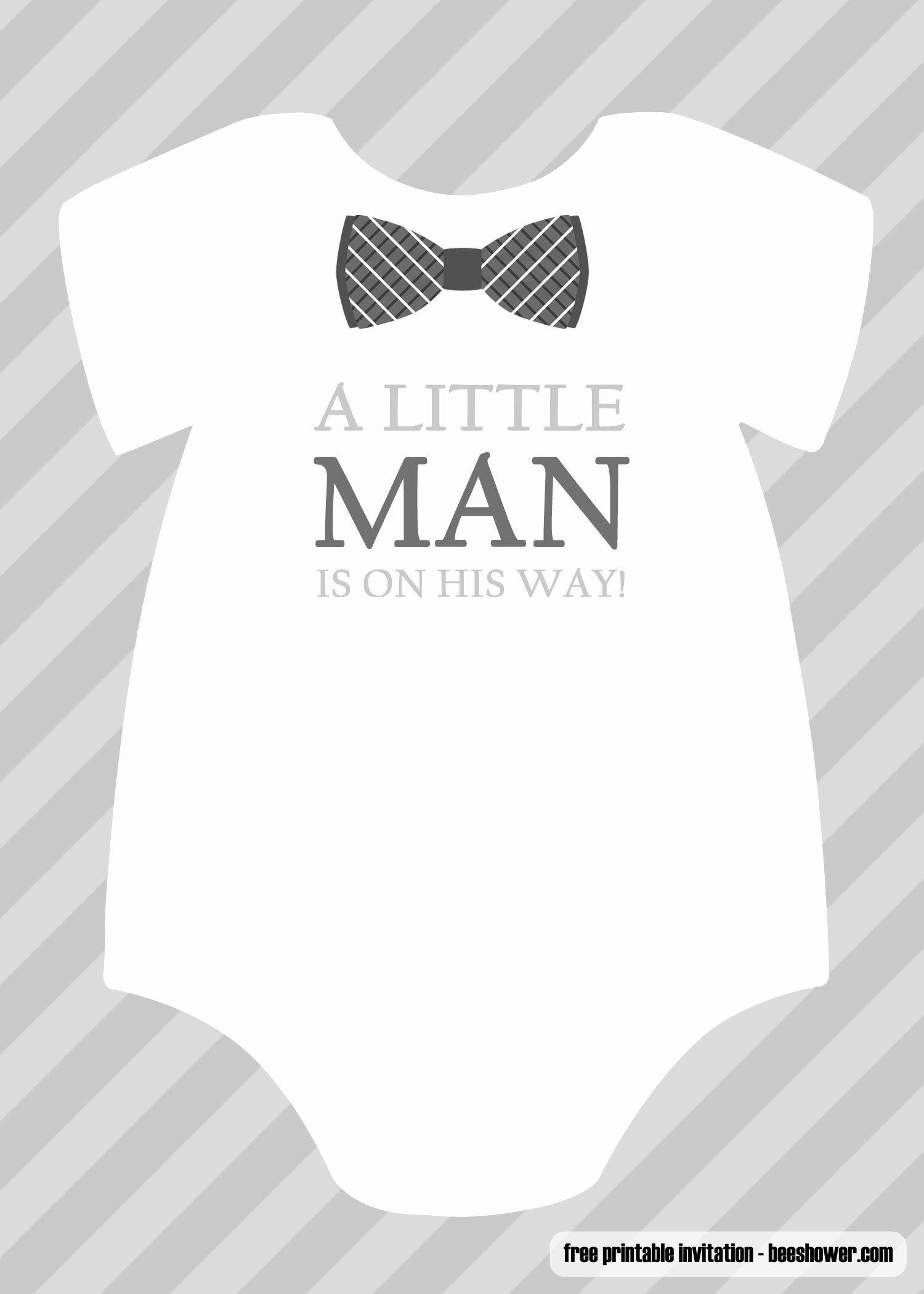 Printable Onesie Baby Shower Invitations Lovely Free Boy Boy Baby Shower Invitations Templates Baby Shower Invitations For Boys Onesie Baby Shower Invitations