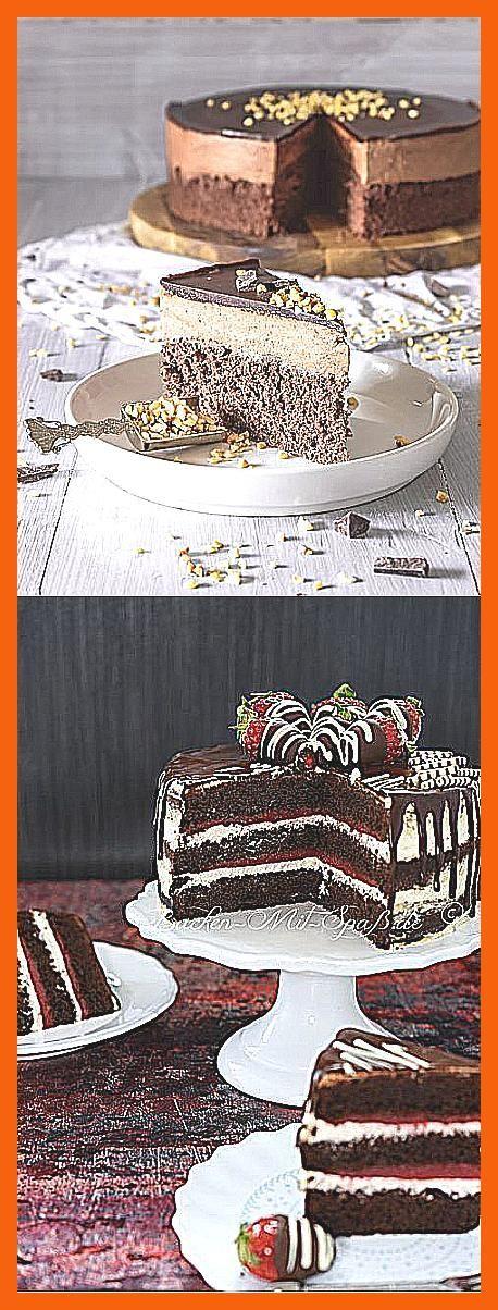 Photo of Brownie-Torte Mit Himbeersahne Und Himbeerspiegel – Zungenzirkus –  Schokoladen …