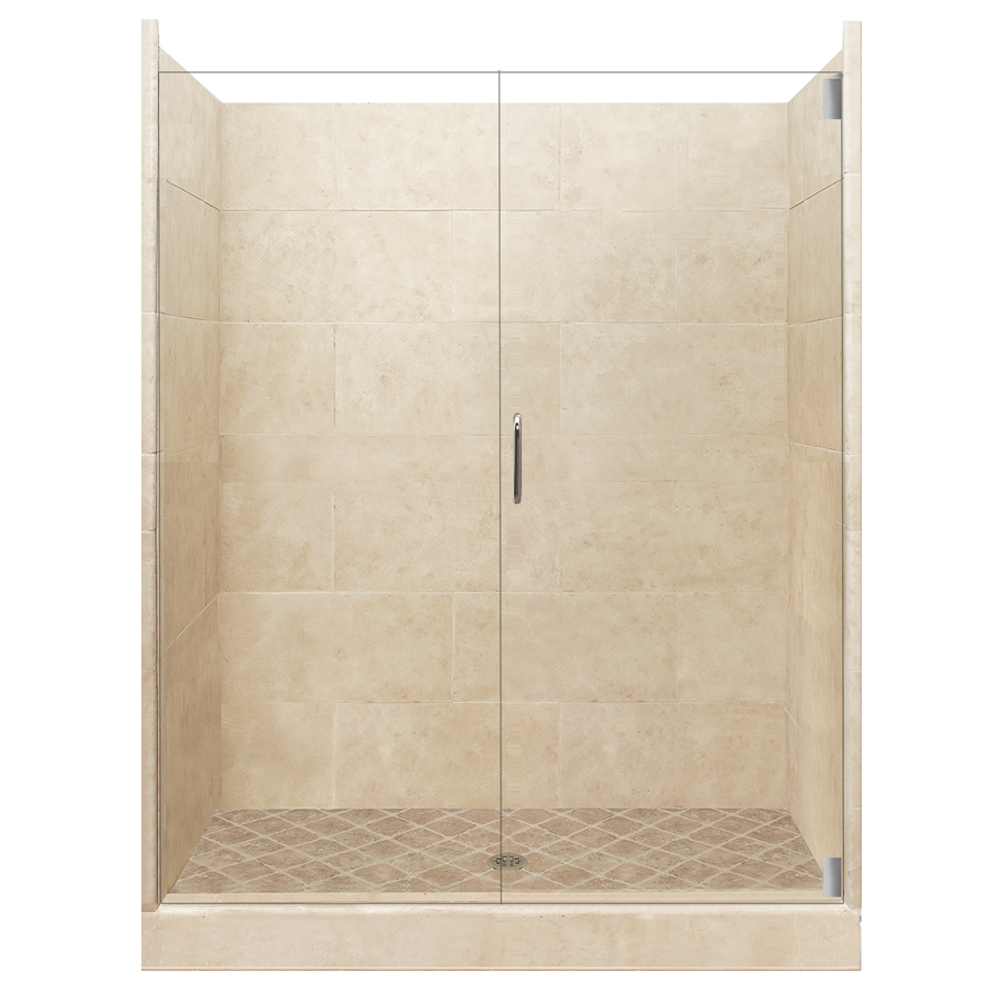 American Bath Factory Sonoma Medium Solid Surface Wall Stone Composite Shower Kits Shower Accessories Yellow Bathrooms