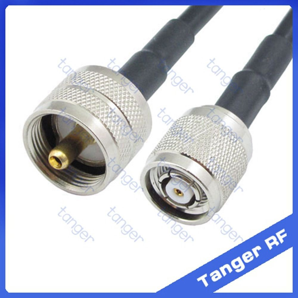 Hot Rp Tnc Male Connector To Pl259 Uhf Male Plug Straight Rf Rg58 Pigtail Jumper Coaxial Cable 20inch 50cm With High Quality Lights Plugs Electrical Equipment