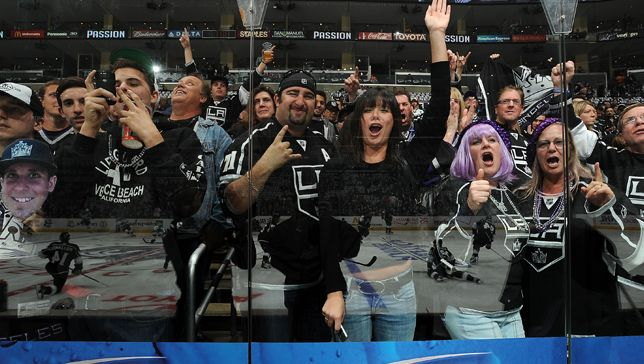 Los Angeles Kings celebrate their championship today