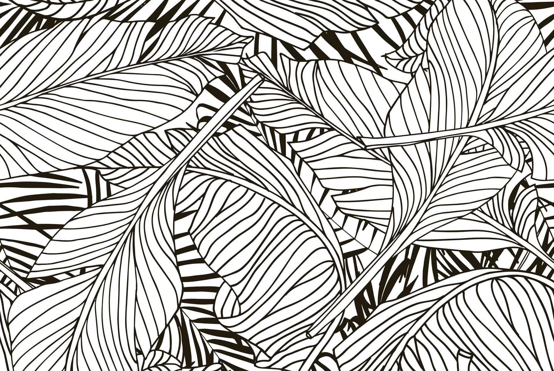 Image result for banana leaves wallpaper black n white
