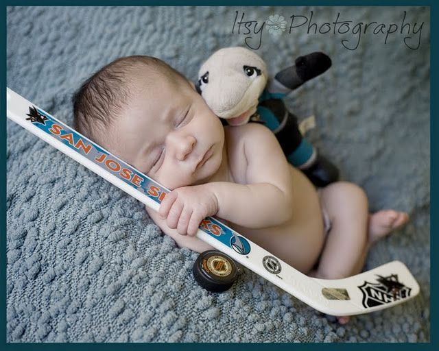Weve got a mini san jose sharks fan train em young